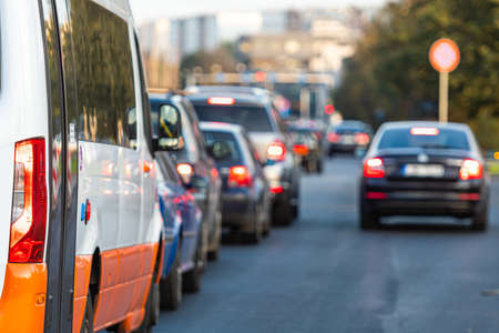 car congestion to leave the city center at the end of the working day