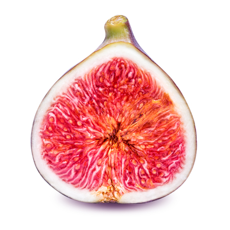 sweet segments: half fig isolated on a white background