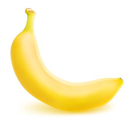 platano maduro: one ripe banana isolated on white background