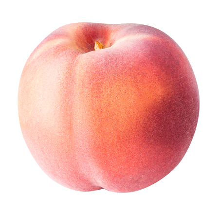 peach fruit isolated on white background Stock Photo