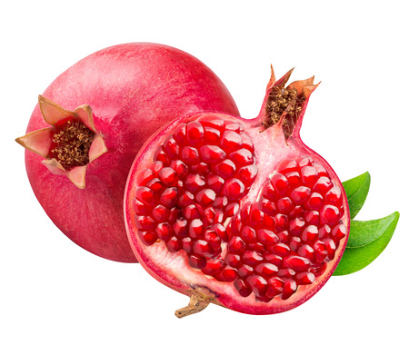 Pomegranete isolated on white bsckground with clipping path