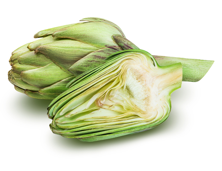 Artichoke isolated on white background with clipping path