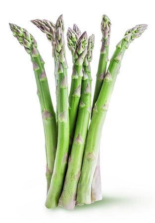 Fresh asparagus isolated on white background with clipping path Reklamní fotografie - 91379175