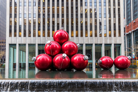 stock photo street near radio city music hall as seen on januar 3 2018 new york city usa - When Does Nyc Decorated For Christmas 2018