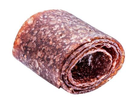 Isolated sweet pureed fruit pastila