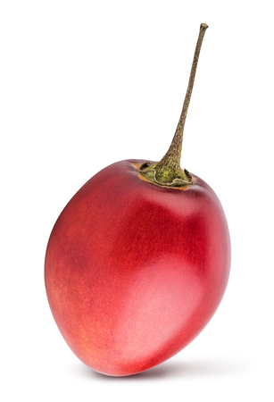 Red tamarillo isolated with shadow on white background. Clipping path. Banco de Imagens