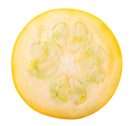 Fresh yellow squash isolated on white background. Clipping path