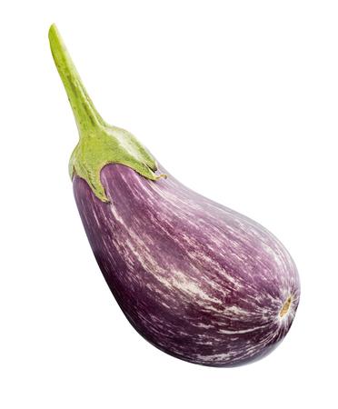 Fresh aubergine (eggplant ) isolated on white background.