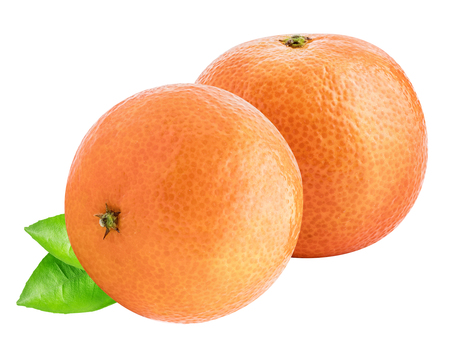 Collection of  mandarin (tangerine) isolated with shadow on white background. Clipping path