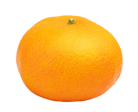 Mandarin isolated on white background. Clipping path