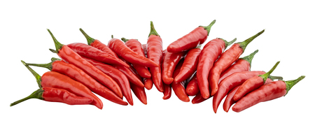 Chili pepper isolated on white background. Clipping path Zdjęcie Seryjne