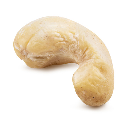 Cashew nut isolated on white background. Clipping path
