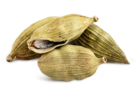 Cardamom isolated on white background. Clipping path 写真素材
