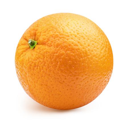 Fresh orange isolated on white background. Clipping path