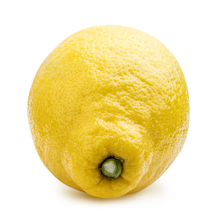 Fresh lemon isolated on white background. Clipping path Reklamní fotografie