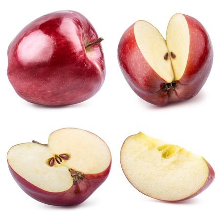 Red apple isolated on whitebackground. Clipping path