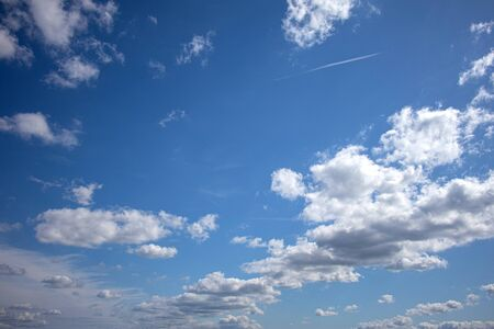 Blue sky with beautiful natural white clouds background