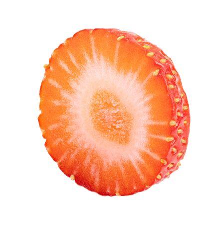 Strawberry isolated on white background.