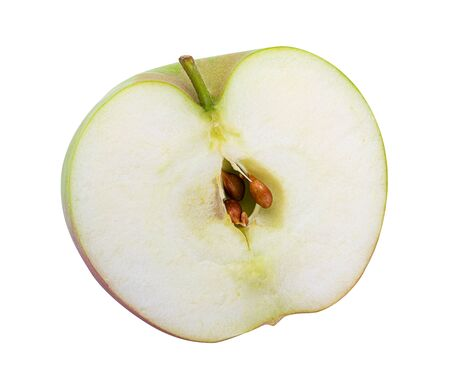 Half of apple isolated on white background