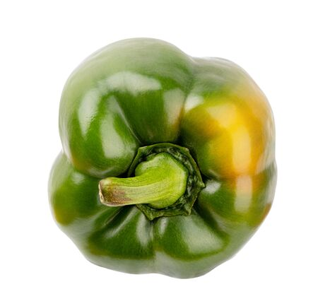 Green pepper isolated on white background