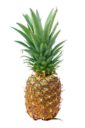 Pineapple isolated on white background. Clipping path Фото со стока