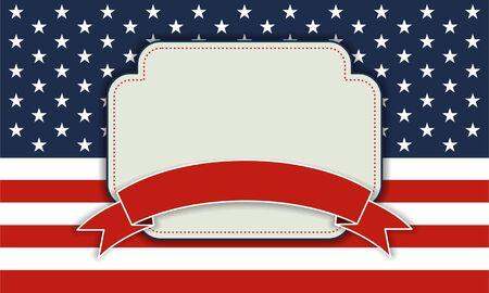 4 juli Independence Day achtergrond, 4 juli, Memorial Day, Independence day, Gemakkelijk te bewerken Perfect voor uitnodigingen of aankondigingen Stock Illustratie