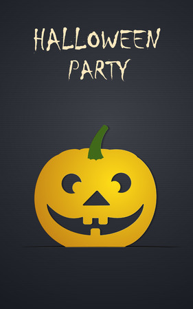 Halloween day Vector Templates. Perfect for invitations or announcements. Illustration