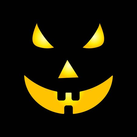 wicked set: Scary faces of Halloween pumpkin Created in Vector
