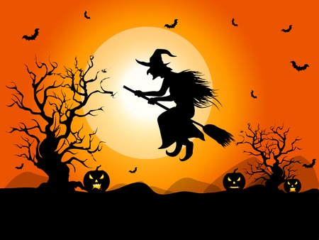 halloween party: Background for Halloween celebrations.