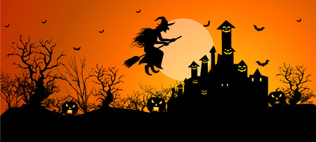 halloween witch: Background for Halloween celebrations.