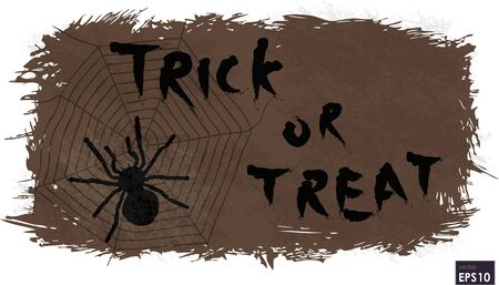 treat: Halloween trick or treat message on background