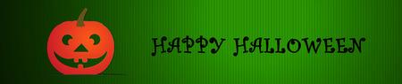 ハロウィーンのお祝いのベクター バナー ヘッダー デザイン