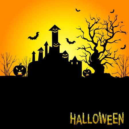 Achtergrond voor Halloween feesten.