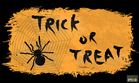 Halloween trick or treat message on background