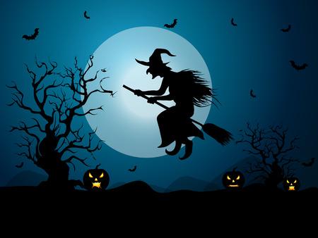brujas caricatura: Antecedentes para las celebraciones de Halloween.