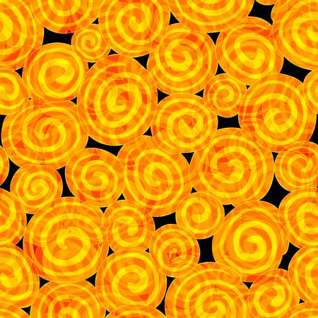 ハロウィーンと他の用途のためのシームレスなベクトル背景パターン テクスチャ