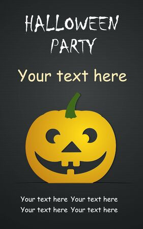 Halloween day Vector Templates. Perfect for invitations or announcements. Çizim