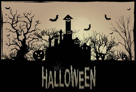 haunted tree: Background for Halloween celebrations.