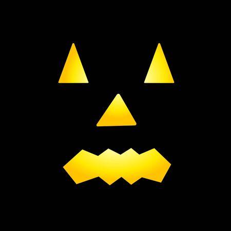 Enge gezichten van Halloween pompoen Gemaakt in Vector