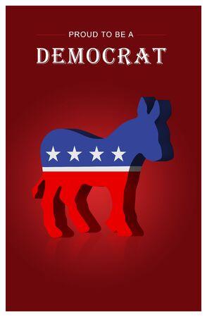 Amerikaanse presidentsverkiezingen Stockfoto