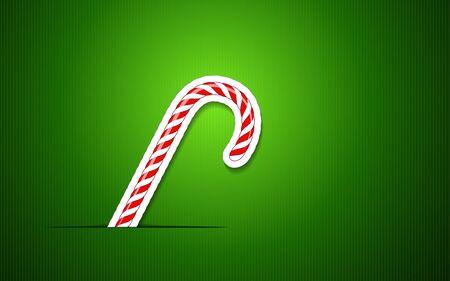 キャンディの杖とクリスマス グリーティング カード  イラスト・ベクター素材