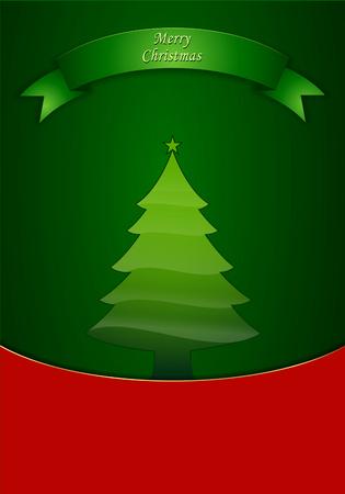 Kerstboom met achtergrond. Perfect voor uitnodigingen of aankondigingen.