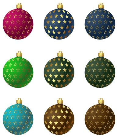 一連のベクター クリスマスのオーナメント ボール。Eps 10。簡単に編集。