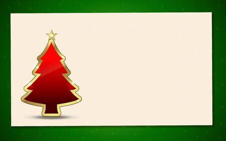 背景のクリスマス ツリー。招待状やお知らせに最適です。