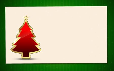 plain postcards: Christmas Tree with background. Perfect for invitations or announcements. Illustration
