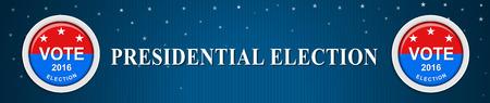 Amerikaanse presidentsverkiezingen Stock Illustratie