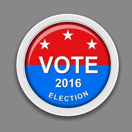 米大統領選挙 2016  イラスト・ベクター素材