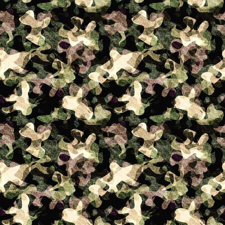 Seam less/ Tile able Camouflage pattern. Foto de archivo