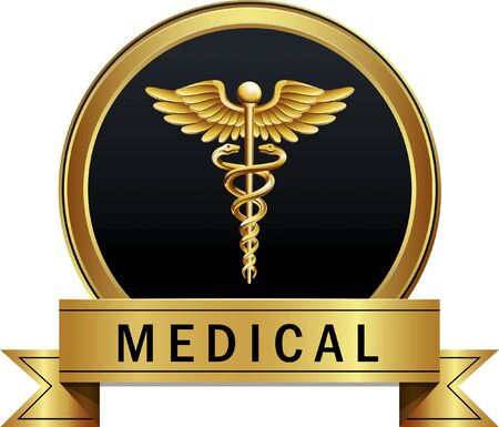 Caduceus Medical Vector Icon Symbol 向量圖像