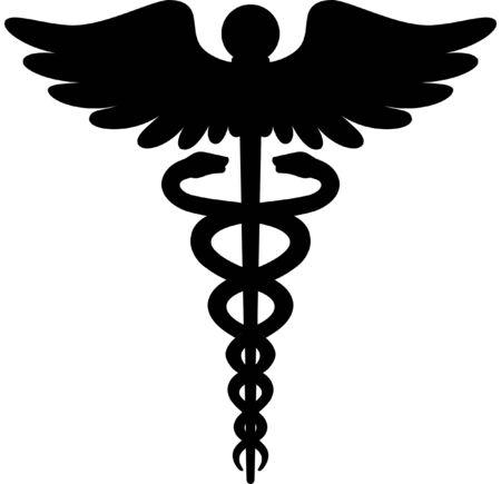 Caduceus Medical Icon emblem silhouette